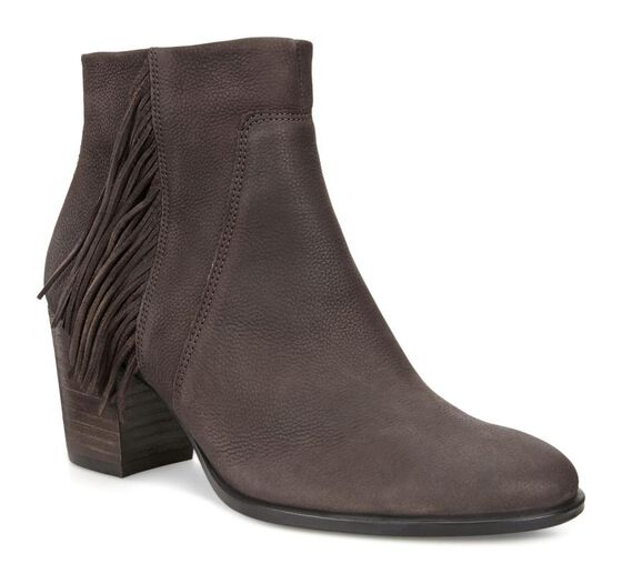 ECCO Womens Shape 55 Tassel Boot (COFFEE)