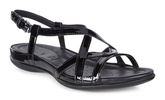 ECCO Flash Cross Strap Sandal (BLACK)