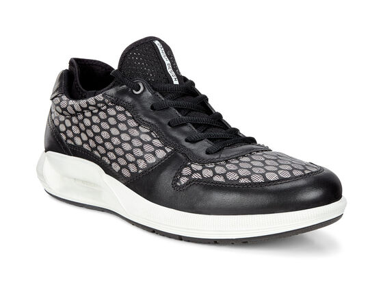 ECCO Mens CS 16 Sneaker (BLACK/WHITE)