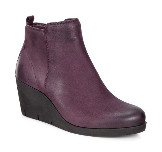 ECCO Womens Bella Wedge Boot (MAUVE)