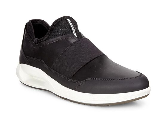 ECCO Mens CS16 Band Sneaker (BLACK/BLACK)