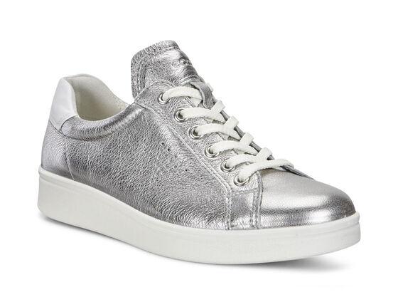 ECCO Womens Soft 4 Sneaker (ALUSILVER/WHITE)