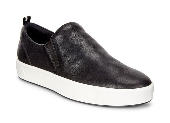 ECCO Womens Soft 8 Slip On (BLACK)