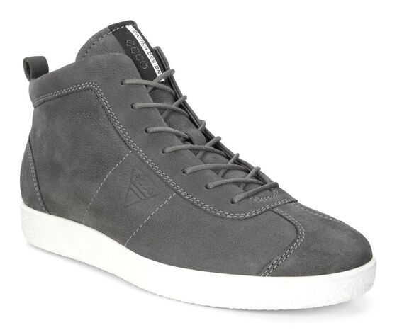 ECCO Mens Soft 1 High Top (DARK SHADOW)