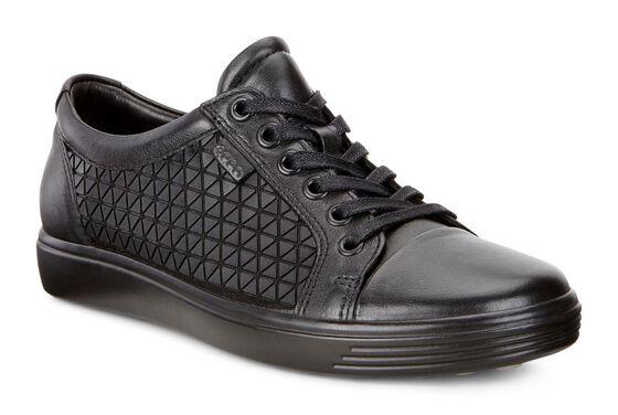 ECCO Soft 7 Retro Sneaker (BLACK/BLACK)