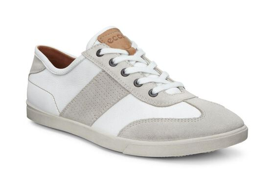 ECCO Mens Collin Retro Sneaker (GRAVEL/WHITE)
