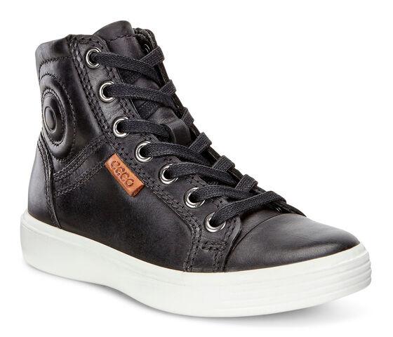 ECCO Teen Soft 7 High Top (BLACK)
