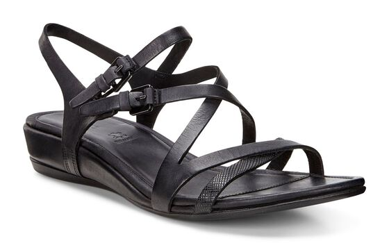 ECCO Womens Touch 25 S Strap Sandal (BLACK/BLACK)