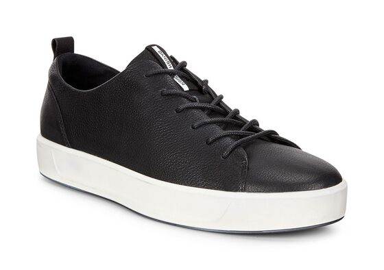 ECCO Mens Soft 8 Sneaker (BLACK)