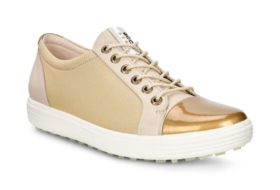 ECCO Womens Golf Casual Hybrid (OYESTER/GOLD)