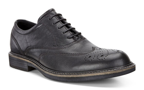 ECCO Kenton Wing Tip Tie (BLACK)
