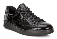 ECCO Womens Soft 4 Sneaker (BLACK)