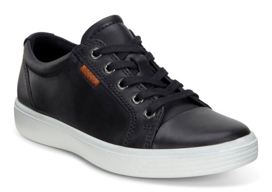ECCO Teen Soft 7 Sneaker (BLACK)