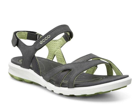 ECCO Womens Cruise Sandal (DARK SHADOW/PEPPERMINT)