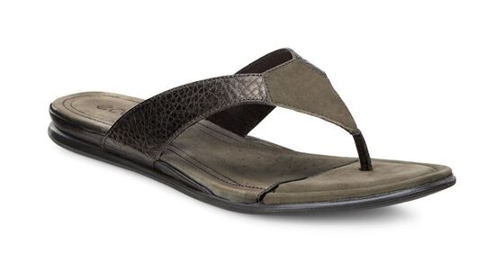 ECCO Touch Thong (LICORICE METALLIC/TARMAC)