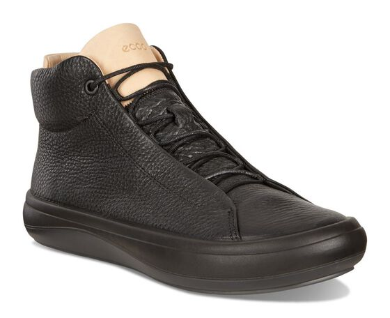 ECCO Womens Kinhin Boot (BLACK/VEG TAN)
