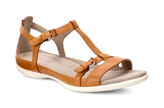 ECCO Flash T-Strap Sandal (LION)