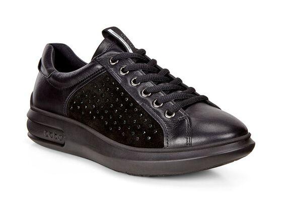 ECCO Soft 3 Sneaker (BLACK/BLACK)