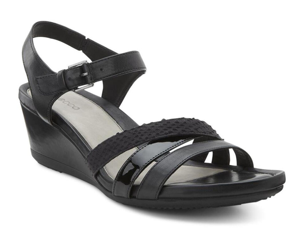 ECCO Touch 45 WS Wedge SandalECCO Touch 45 WS Wedge Sandal BLACK/BLACK  (51052 ...