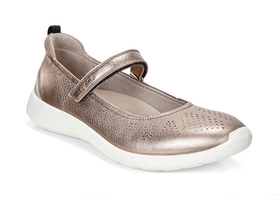 ECCO Soft 5 Mary Jane (WARM GREY METALLIC/MOON ROCK)