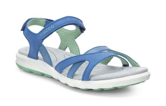 ECCO Womens Cruise Sandal (COBALT/COBALT/GRANITE GREEN)