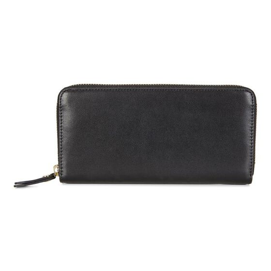 ECCO Kauai Large Zip Wallet (BLACK)