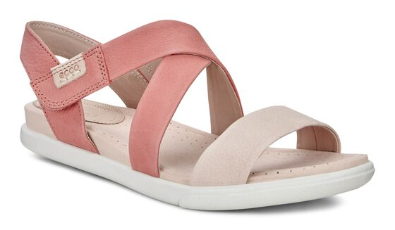 ECCO Damara Crisscross Sandal (ROSE DUST/CORAL)