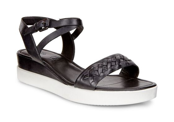 ECCO Touch Sandal Strap PlateauECCO Touch Sandal Strap Plateau in BLACK (02001)