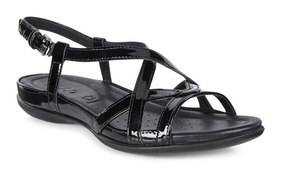ECCO Flash Cross Strap Sandal (BLACK)