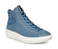 ECCO Womens Soft 3 High Top (RETRO BLUE/RETRO BLUE)