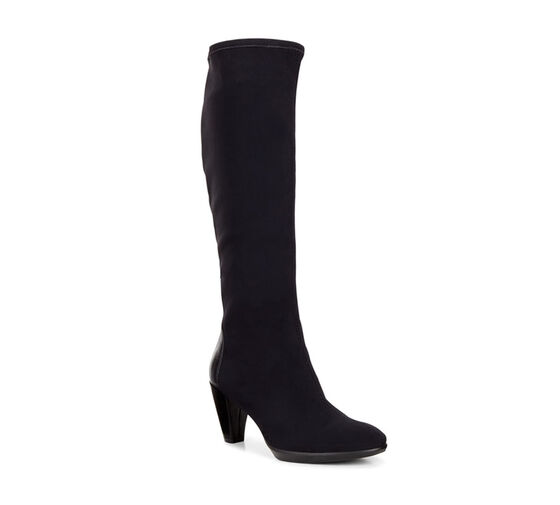 ECCO Womens Shape 55 Plateau Tall Boot (BLACK/BLACK)