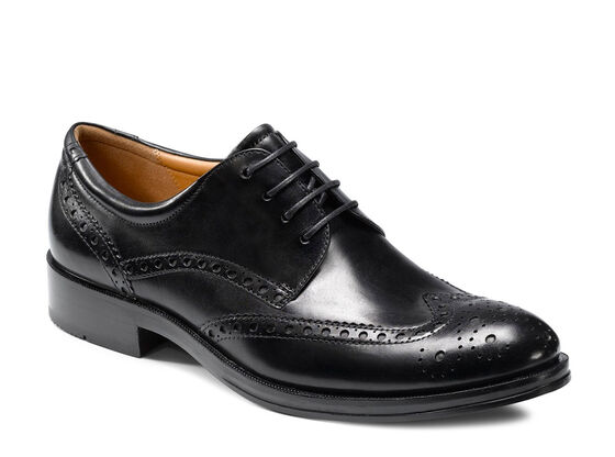 ECCO Canberra Leather Sole Lace (BLACK)