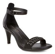 ECCO Shape 65 Strap Sandal (BLACK/BLACK)