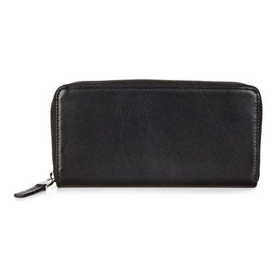 ECCO Konya Large Zip Wallet (BLACK)