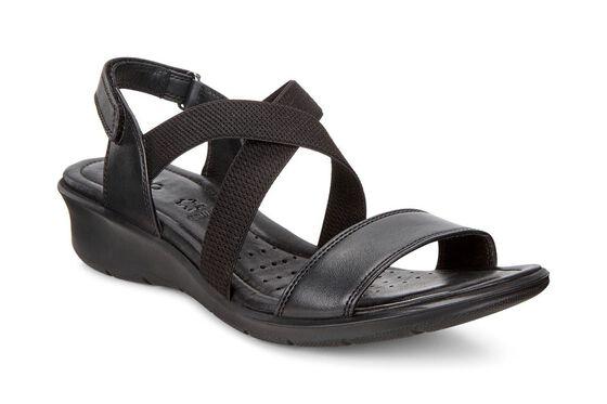 ECCO Womens Felicia Casual Sandal (BLACK)