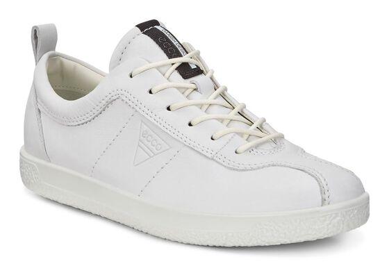 ECCO Womens Soft 1 Sneaker (WHITE)