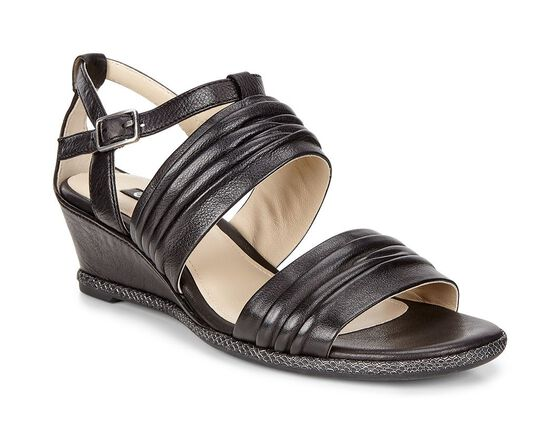 ECCO Rivas 45 II Wedge Sandal (BLACK)