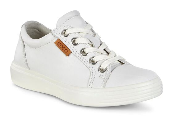 ECCO Kids Soft 7 Sneaker (WHITE)