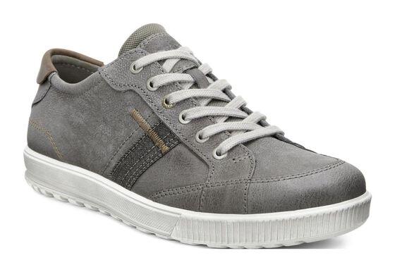 ECCO Ennio Retro Sneaker (WARM GREY/COGNAC)