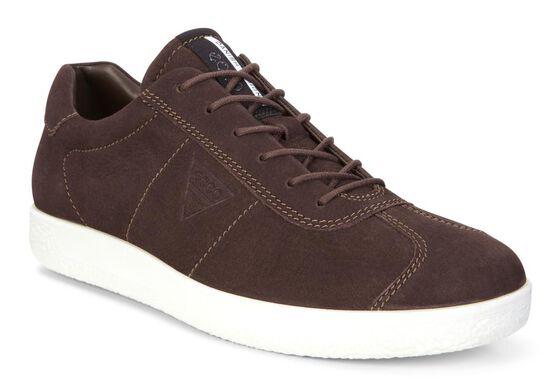 ECCO Mens Soft 1 Sneaker (COFFEE)