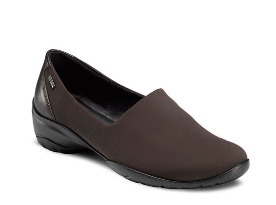 Rise GTX Slip On Coffee-Coffee Leather-Stretch Textile 42(US 0)  women (COFFEE/COFFEE)