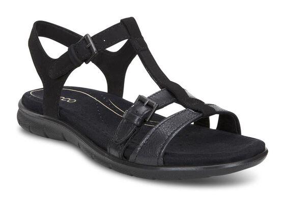 ECCO Babett Sandal T-Strap (BLACK/BLACK)