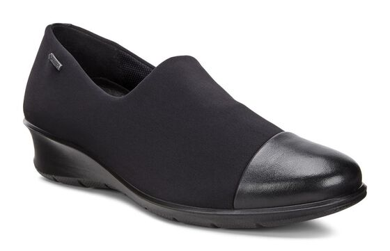 ECCO Womens Felicia T Slip On (BLACK/BLACK)