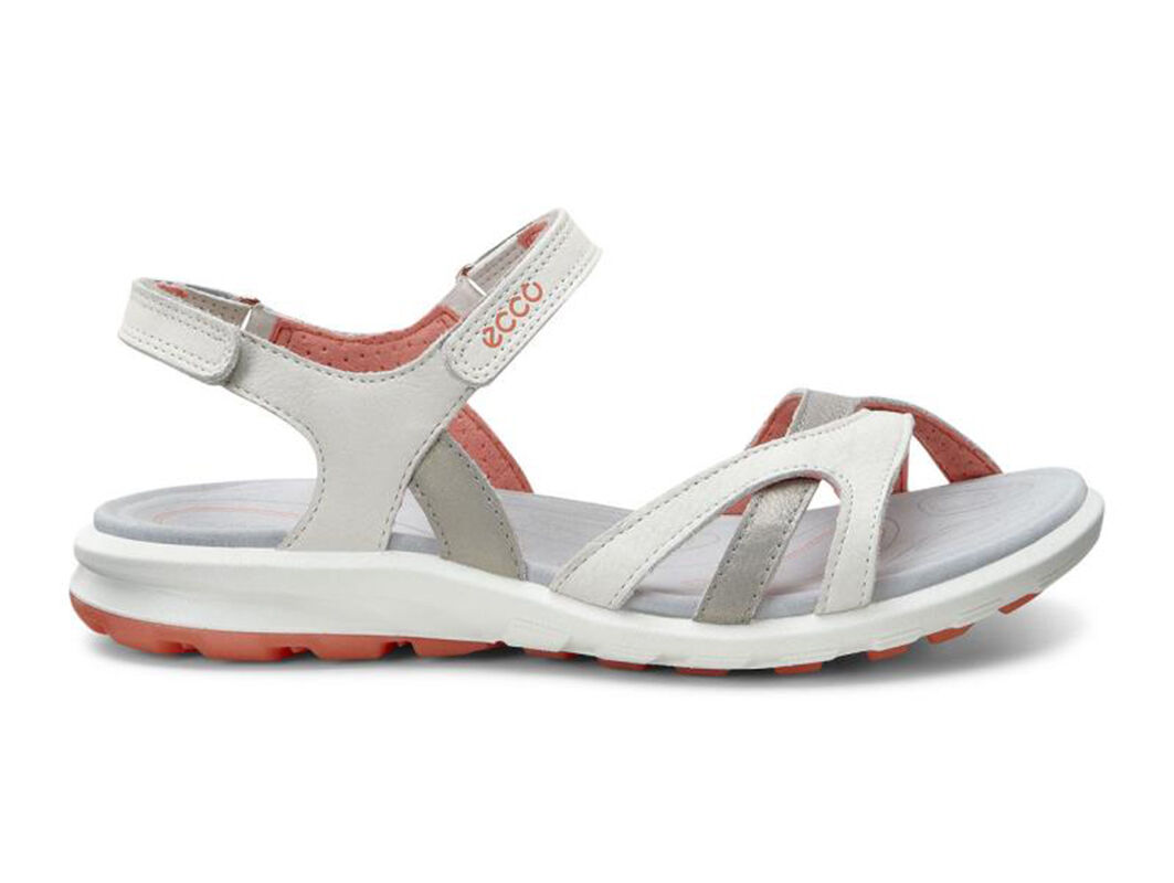 ... ECCO Womens Cruise SandalECCO Womens Cruise Sandal SHADOW WHITE/CORAL  (59902) ...