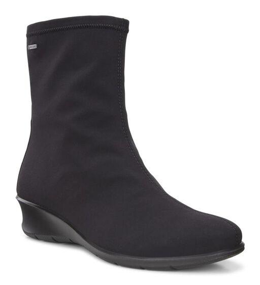 ECCO Womens Felicia Pull On Boot (BLACK/BLACK)
