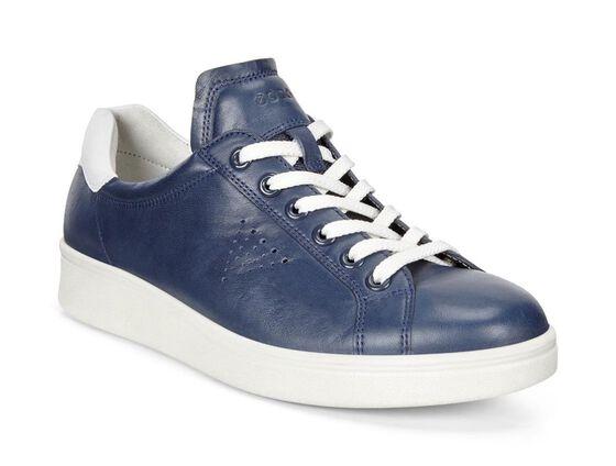 ECCO Womens Soft 4 Sneaker (TRUE NAVY/WHITE)