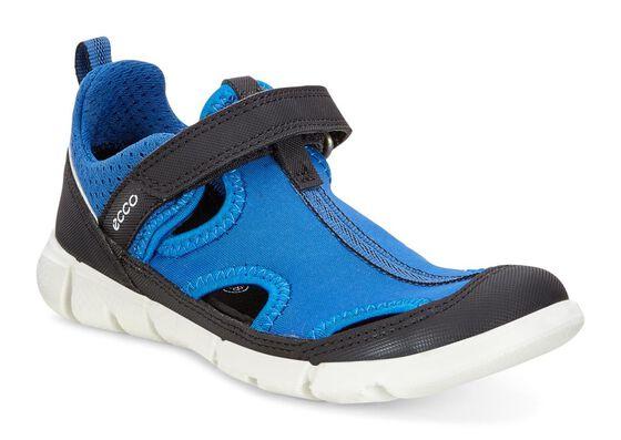 ECCO Kids Intrinsic Sneaker (BLACK/BERMUDA B-BERMUDA B/BLACK)