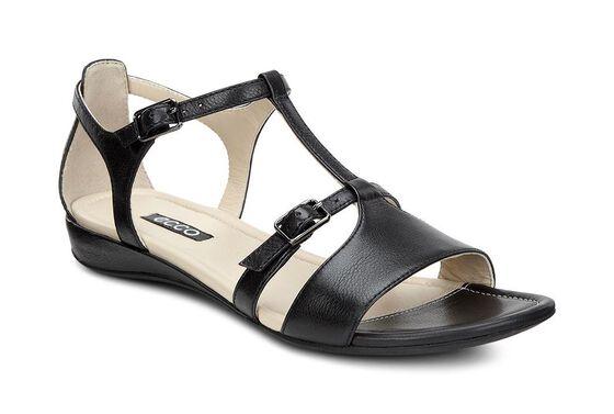 ECCO Bouillon T-Strap Sandal (BLACK)