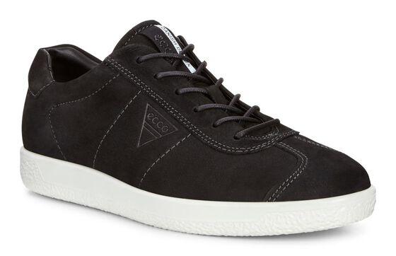 ECCO Mens Soft 1 Sneaker (BLACK)