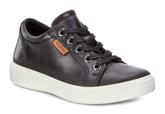 ECCO Kids Soft 7 Sneaker (BLACK)